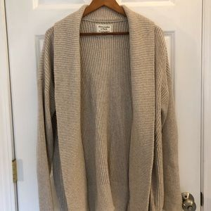 Abercrombie & Fitch Oatmeal Sweater Cardigan Coat